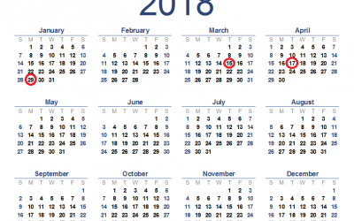 2018 Tax Filing Season Important Dates