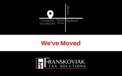Franskoviak Tax Solutions Has Moved To a New Address
