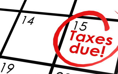 2nd Quarter Tax Estimates Are Due Tuesday June 15th